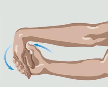 Exercício de alongamento das mãos para cima e para baixo