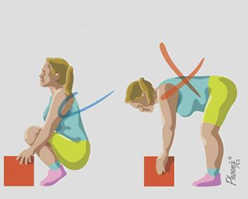 Postura correta para levantar objetos: dicas e orientações posturais em osteoartrite